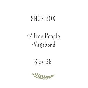 Shoe box size 38 Free People and Jeffrey Campbell